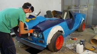 Воздухозаборник и проблемная покраска. Кабриолет ВАЗ 2106