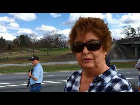 Billy Graham Motorcade drives through Gaston County