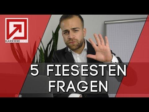 Vorstellungsgespräch - Die 5 FIESESTEN Fragen + Die PERFEKTEN Antworten!