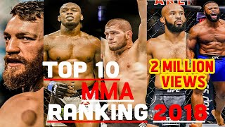 TOP 10 MMA RANKINGS 2018 HD