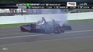 Chase Austin Huge Crash 2014 Indy Lights Freedom 100 at Indianapolis