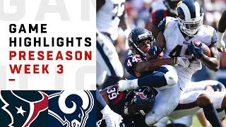 Texans vs. Rams Highlights | NFL 2018 Preseason Week 3