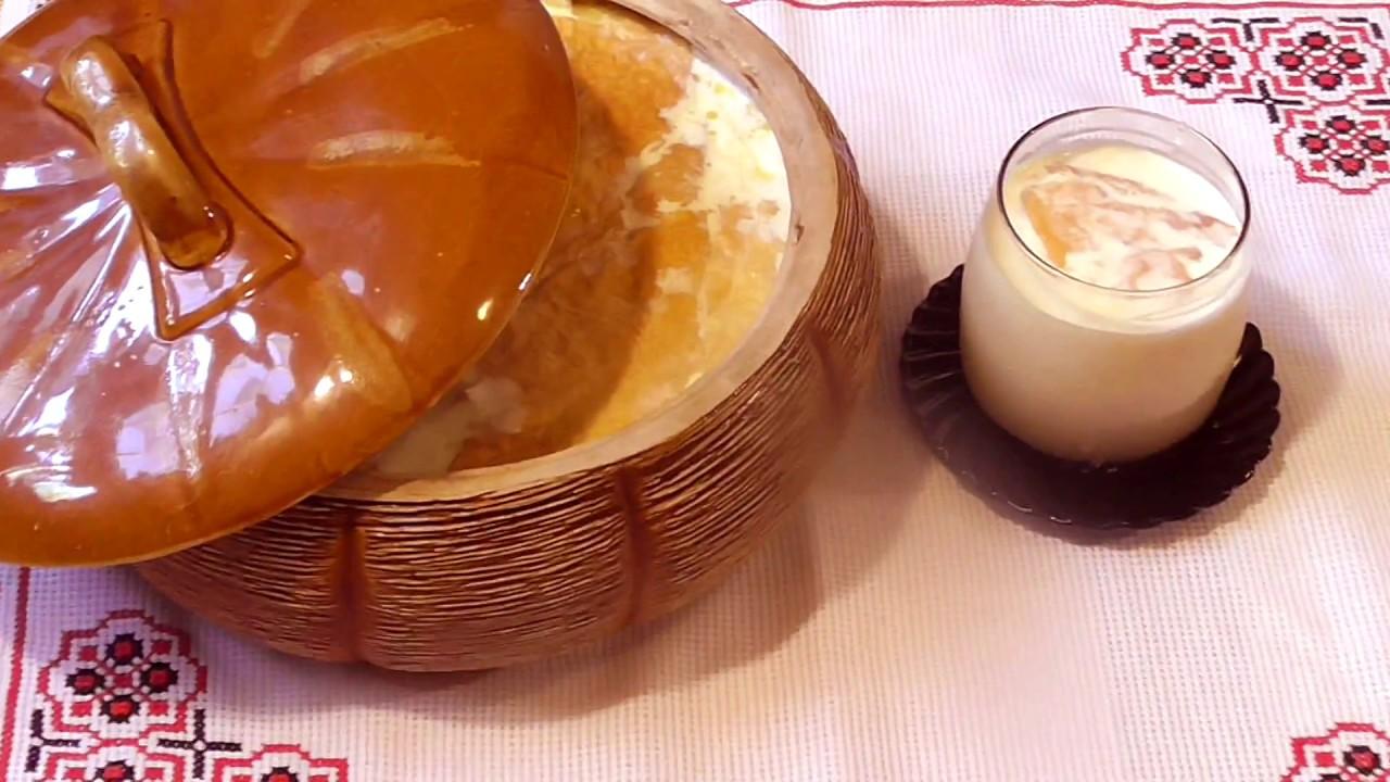 Ряженка \ Рецепт домашней ряженки \ Кисломолочные продукты\ блюда из молока \Ряжанка.