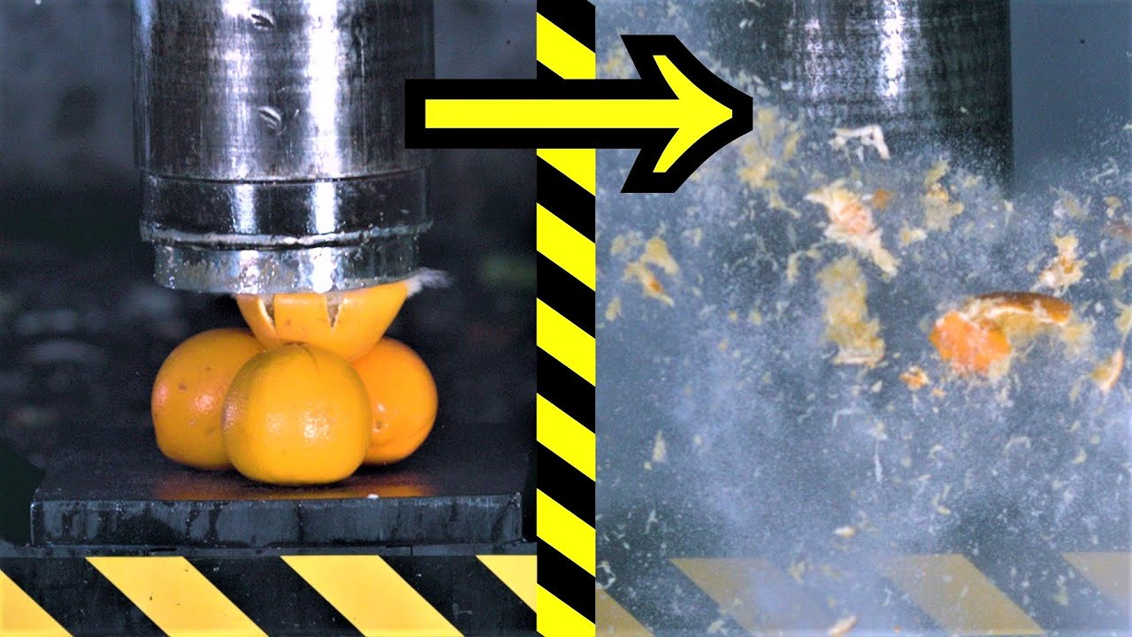 Exploding Fruits with World's Fastest Press