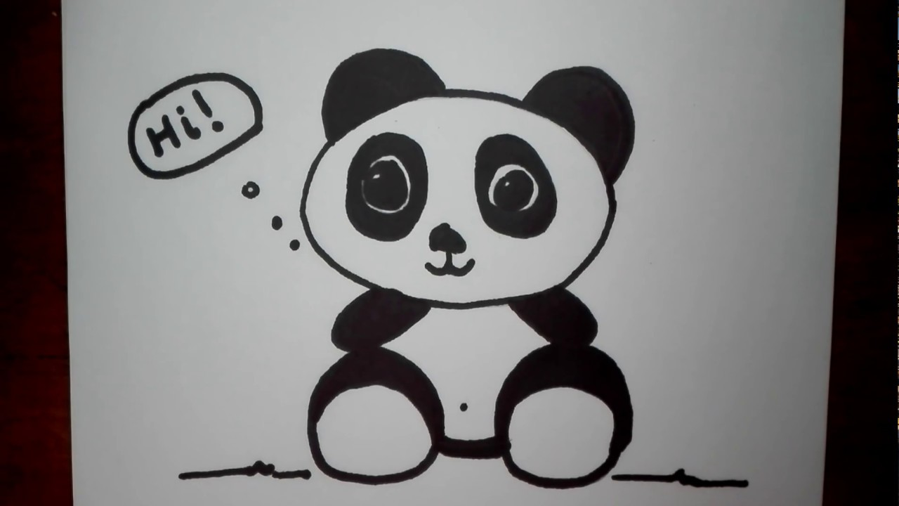 How to Draw a Panda Bear Easy for Kids - Step by Step ...