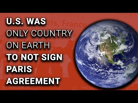 American Idiocy: EVERY COUNTRY But US Signs Paris Climate Deal
