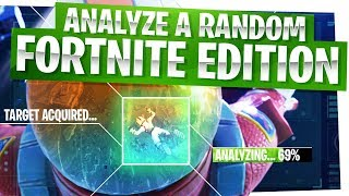 ANALYZE A RANDOM! - Fortnite Edition - Get Better at Fortnite