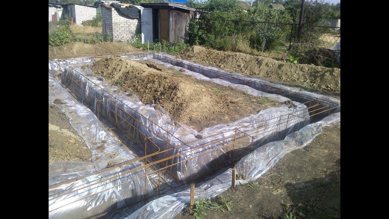 фундамент без опалубки в земле под дом