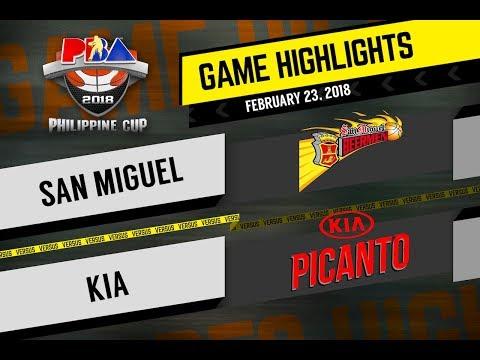 PBA 2018 Philippine Cup Highlights: SMB vs Kia Feb. 23, 2018