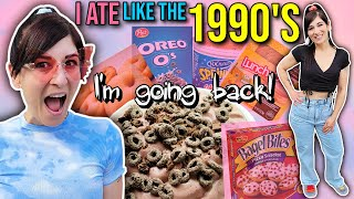 I Ate Like It Was The 1990's for 24 HOURS but for weight loss || FULL DAY OF EATING 2000 Calories