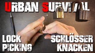 Schloss knacken Anfänger Anleitung - lock picking Tutorial Urban Survival Überleben (deutsch/german)