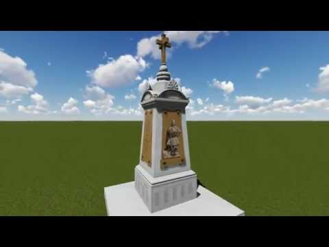 3D Representation of Monument, dedicated to Greek Soldiers who fought in Crimea.