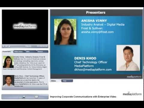 Improving Corporate Communications with Video