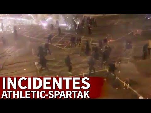 Athletic - Spartak | Las vergonzantes imágenes de los incidentes en Bilbao | Diario AS
