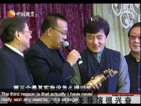 Jackie Chan at the Hong Kong Film Directors' Guild Annual Dinner (translated)