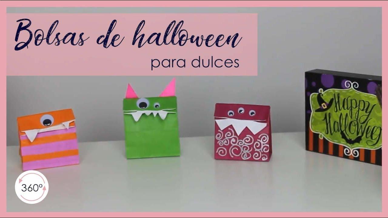 DIY/Manualidades de Halloween- Decorar bolsas de halloween-Ideas ...