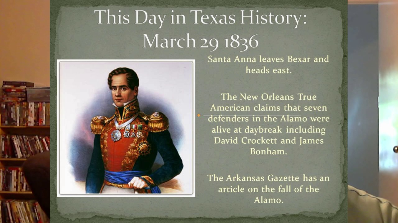 This Day In Texas History March 29, 1836 - YouTube