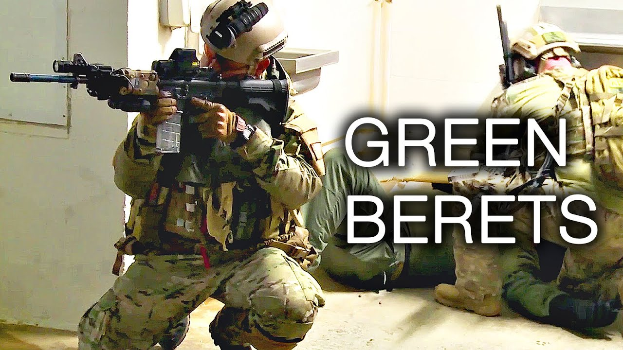 Army Special Forces Green Berets - Close Quarters Combat Training ...