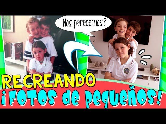 ¡¡Recreando FOTOS de PEQUEÑOS!! 👶FOTOS de la INFANCIA vs FOTOS de AHORA 👦👦👧