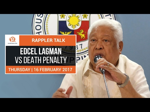 Rappler Talk: Edcel Lagman vs death penalty