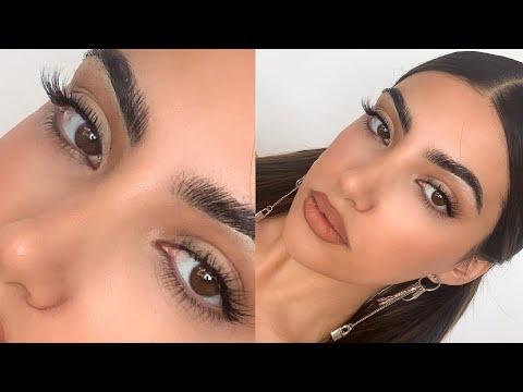 you NEED to try my new false eyelash hack... - YouTube