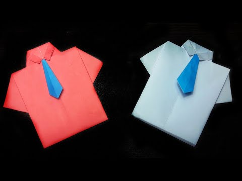 HOW TO MAKE ORIGAMI SHIRT|Paper shirt|Diy paper shirt|Origami shirt|Stop Motion Lover