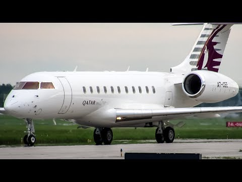 Qatar Executive Global 5000 (GL5T) landing in Montreal (YUL/CYUL)