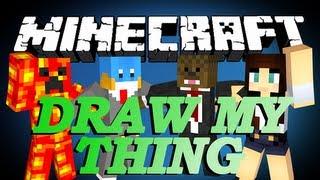 Minecraft DRAW MY THING Minigame w/ HuskyMudkipz, TBNRFrags and AshleyMarieeGaming #7