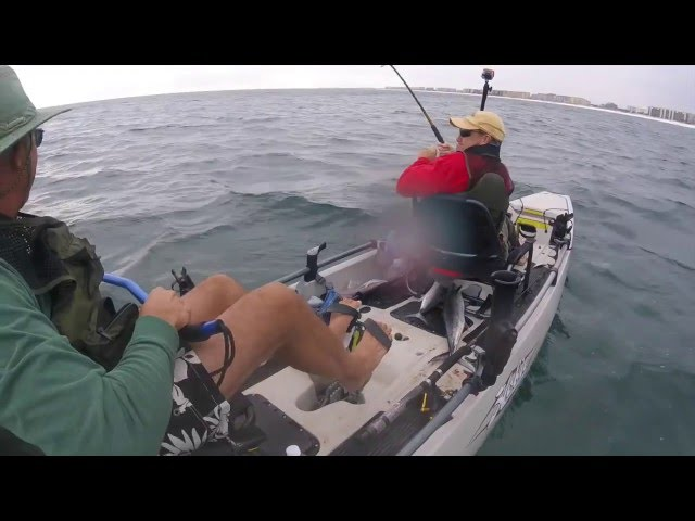 Ft Walton Kayak Fishing in Hobie Mirage Pro Angler 17