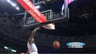 Derrick Rose elevator dunk all the way to the top