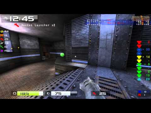 Quake Live: CTF Pickup Team Vs GHs Pillbox POV Buzzaldrin