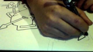 Speed Drawing  - Gabriel - PoscaGraff