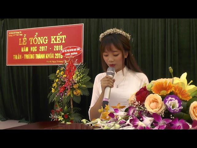 Trường THPT Minh Châu bài phát biểu tri ân thầy cô