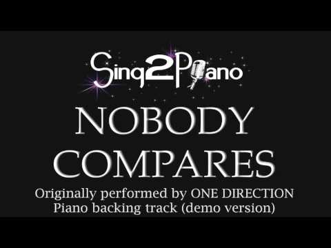 Nobody Compares - One Direction (Piano backing track)