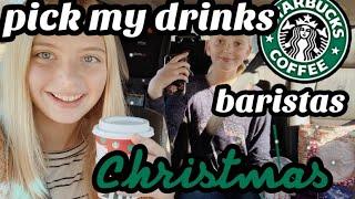 Starbucks baristas pick my HOLIDAY drinks! | Addison Nicole