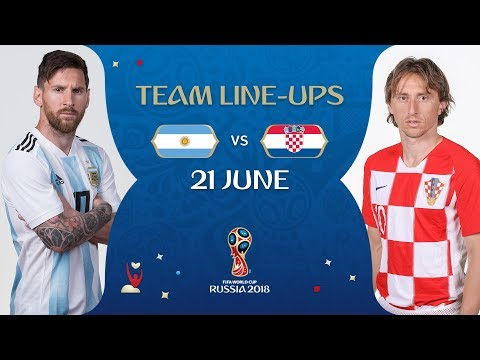 LINEUPS – ARGENTINA V CROATIA - MATCH 23 @ 2018 FIFA World Cup™ thumbnail