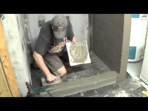 DIY Basement Bathroom Part 2 - Installing Shower Pan - YouTube
