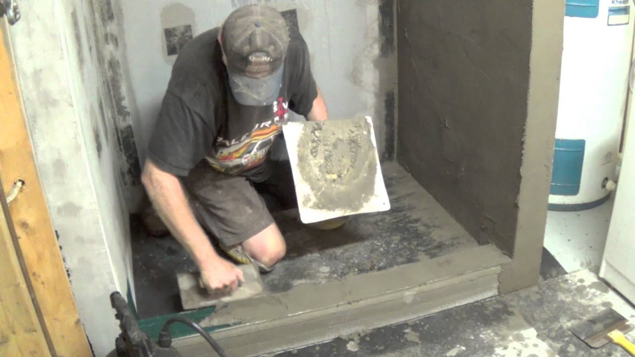 Diy basement bathroom part 5 skim coating cement board youtube dailygadgetfo Image collections