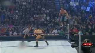 WWE Summerslam 2008 Batista breaks John Cena