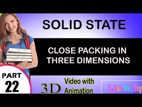 close packing in three dimensions solid state class 12 chemistry subject notes cbse