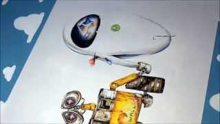 Repeat youtube video Wall-E and Eve Speed Drawing