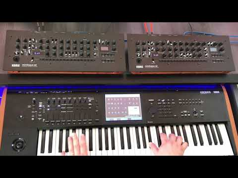 2 x KORG minilogue xd module - 8-voice polyphony in poly chain mode!