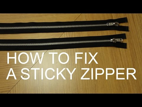 How to Fix a Sticky Zipper