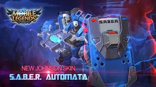 Saber Automata Johnson Skin Mobile Legends Videos Saber Automata