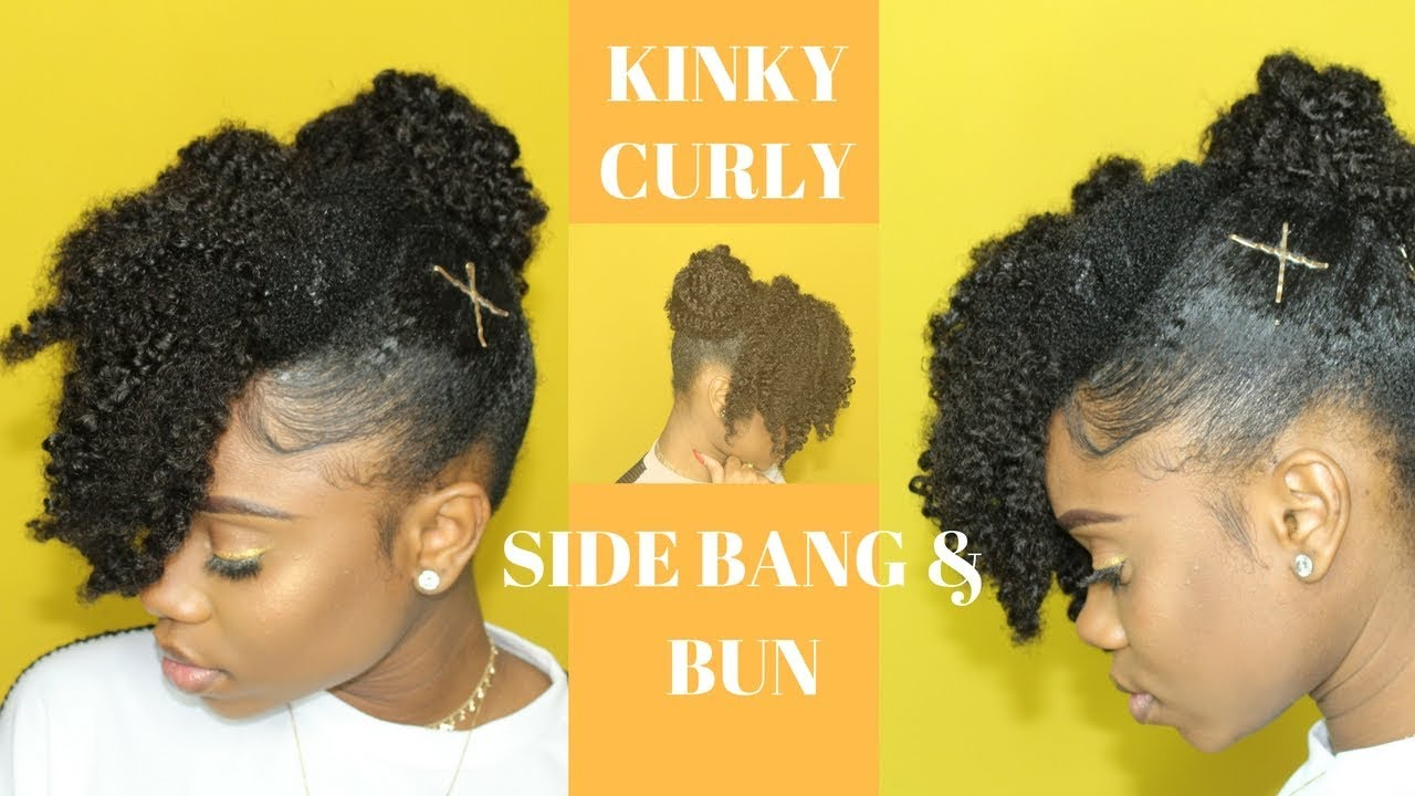 Cute And Simple Hairstyle For Short Medium Natural Hair