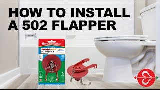 How to fix a toilet that is ghost flushing: Install Fluidmaster 502 Universal toilet flapper