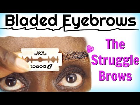 The Razor Blade Method To Shape Your Eyebrows | My DIY Method Struggles