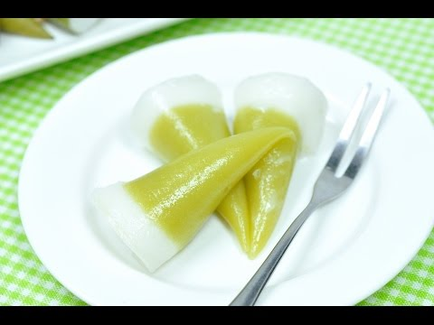 Thai Steamed Cone Cake (Thai Dessert) – Kanom Kuy ขนมกรวย