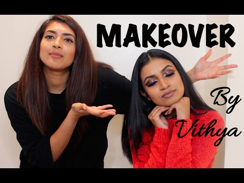 Makeover by Vithya Hair and Makeup Artist for Tamil/Indian/Tan skin | Cut Crease | Thuri Makeup