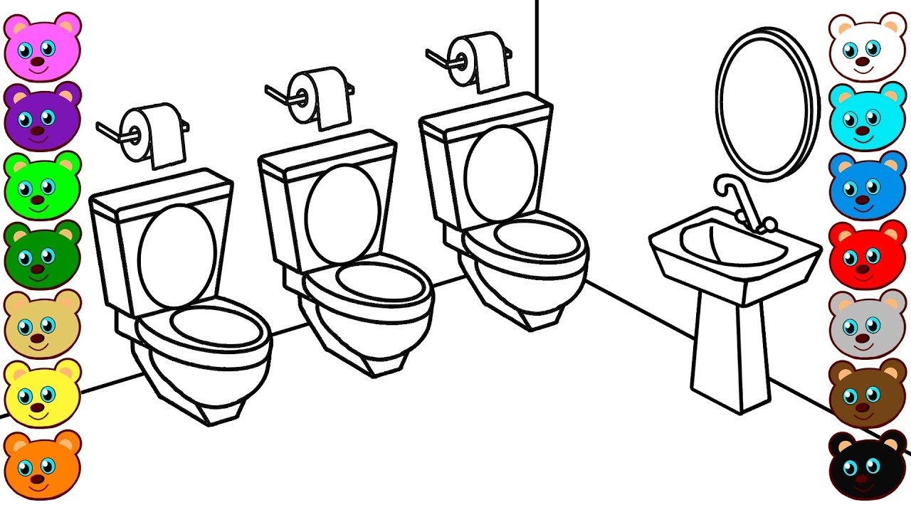 restroom coloring pages - photo#19